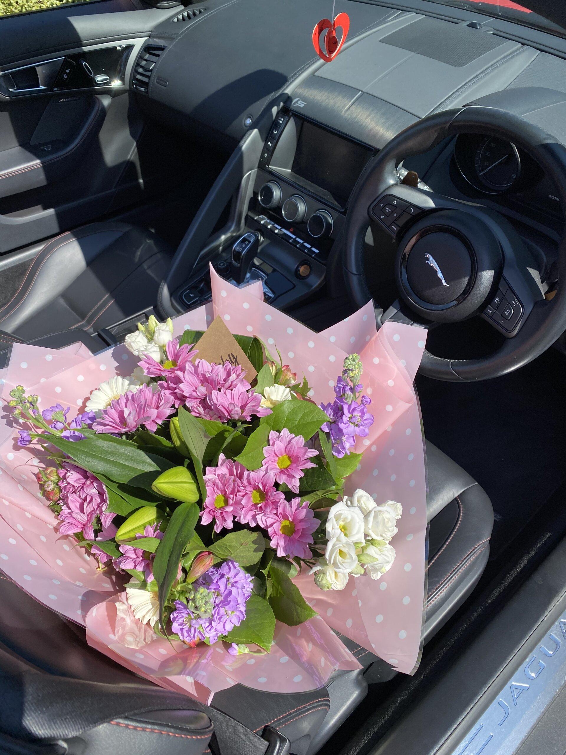 flowers classic car 1